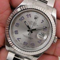 ロレックス (Rolex) Datejust Ii 116334 Mens Steel & White Gold...