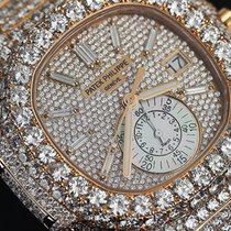 Patek Philippe Nautilus Diamond 18kt Rose Gold Chronograph...