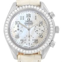 Omega Speedmaster Ladies Diamond Mop Dial Watch 3815.70.36 Box...