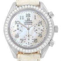 Omega Speedmaster Ladies Diamond Mop Dial Watch 3815.70.36 Box...