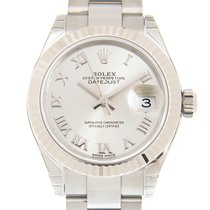 Rolex Lady Datejust White Gold And Steel Silver Automatic...