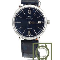 IWC Portofino Automatic 37 blue diamond 458111 NEW