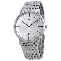 Hamilton Men's Intra-Matic Ultra-slim  Silver Dial Watch