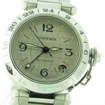 Cartier Pasha C Globus Gmt 2377 Stainless Steel Automatic 35mm...