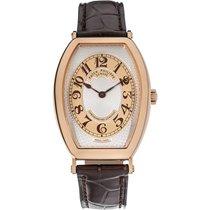 Patek Philippe Gondolo Men's Rose Gold Watch Brown Leather...