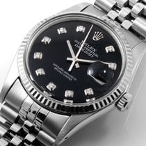 勞力士 (Rolex) SS Datejust 36mm Custom Black Diamond Dial WG...