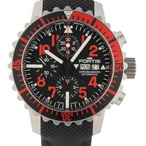 Fortis .. Aquatis B-42 Marinemaster Chronograph Rot NEW FULL SET