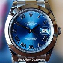Ρολεξ (Rolex) Datejust II Stainless Steel Smooth Bezel Blue...