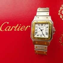 Cartier SANTOS Stahl/Gold 18K 750 Hochfeine Automatik Armbanduhr