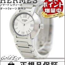 Hermès 【エルメス】ノマード レディース オートクォーツ 腕時計 美品 デイト ステンレスシルバー ホワイト文字盤...