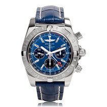 Breitling Chronomat 44 GMT Blue Automatic Mens Watch AB042011/...