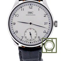 IWC Portuguese Hand-Wound 8 Days Silver Dial NEW
