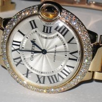Cartier Ballon Bleu 36 MM Midsize 18K Solid Gold Automatic...