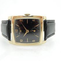 Hamilton Vintage 14K Yellow Gold 22j 770 Black Dial 27mm Wrist...