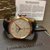 Baume & Mercier Clifton, Silver diamonds dial Crocodile...