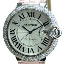 Cartier Ballon Bleu 18k White Gold With Diamond Silvery White...