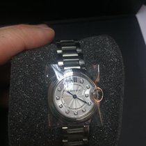 Cartier Ballon Bleu - silver dial with diamonds