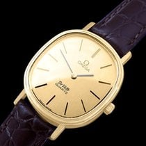 Omega 1980 De Ville Vintage Mens Midsize Watch - 18K Gold...