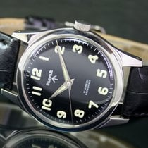 HMT Military Winding Arabic Numeral Index Steel Mens Watch