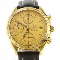 Omega Speedmaster 18k Yellow Gold Chronograph 1991 39mm...