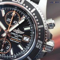 Breitling Men's Superocean Chronograph II Steel on Rubber...