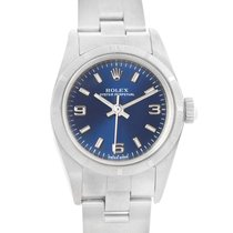 Rolex Oyster Perpetual Blue Dial Steel Ladies Watch 76030 Box...