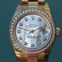 Rolex Ladies 26mm President 18k Yellow Gold 179138 Factory...