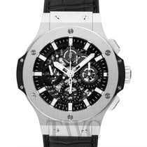 Hublot Big Bang Aero Bang Steel Black Steel/Rubber-Leather...