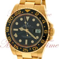 Rolex GMT-Master II, Black Dial, Black Ceramic Bezel - Yellow...