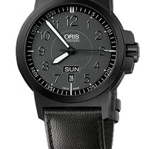 Oris BC3 Advanced, Day Date, Glowing Dial, Leather