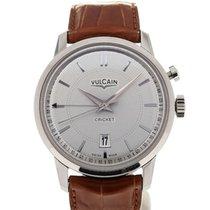 Vulcain 50s Presidents' Watch 42 Silver Guilloche