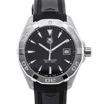 TAG Heuer Aquaracer Quartz 40,5 Black Dial Rubber Strap