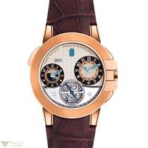 Harry Winston Ocean Tourbillon GMT Traveler 18K Rose Gold...