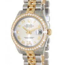 Rolex Datejust 31 178383 In Gold And Steel With Diamond, 31mm