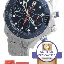 Omega Seamaster Diver Chronograph Blue Stainless Watch