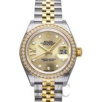 롤렉스 (Rolex) Lady Datejust Champagne Steel/18k Yellow Gold Dia...