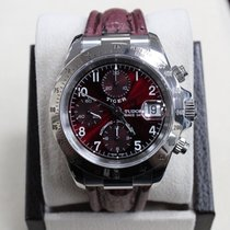 Tudor Prince Tiger Woods 79280 Maroon Stainless Steel Very Rare