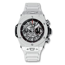 Hublot Big Bang Unico 45mm White Ceramic Mens Watch Ref...