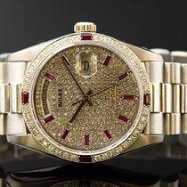 Rolex Daydate 750/000 Wg Diamonds And Dial Ref 180