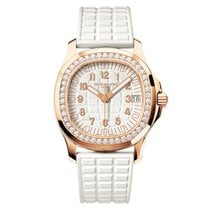 Patek Philippe Aquanaut Luce 18k Rose Gold Diamond Set Bezel...