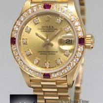 Rolex Datejust President 18k Yellow Gold Diamond & Ruby...