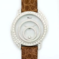 Chopard White Gold Happy Spirit Custom Diamond Watch