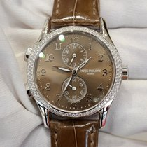 Patek Philippe Complications Chronograph 35 brown dial in...