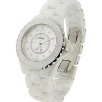 Chanel H1629 Full Size J12 with White Diamond Dial H1629 -...