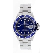 Rolex Submariner Date 16610 Stainless Steel No Holes Case...