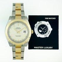 Rolex 116333 Ivory Diamond Dial Oyster Bracelet SS/YG