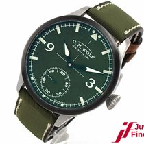 "Original Glashütte i/SA C. H. Wolf ""Pilot Green"" 45 mm Ø"