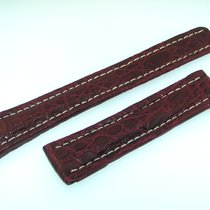 Breitling Band 20mm Croco Red Brown Strap Ib20-03