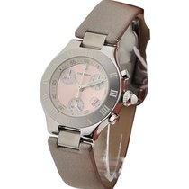 Cartier W1020012 Must 21 Chronoscaph Small Size in Steel - on...