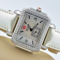 Michele Deco Diamond Stainless Steel Watch Mother Of Pearl...